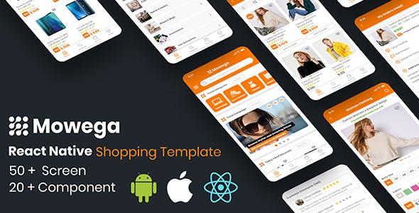 Mowega React Native for E-Commerce Shopping Template