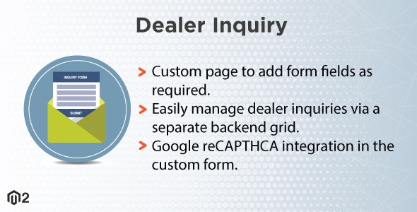 Magento 2 Dealer Inquiry - CodeCanyon Item for Sale