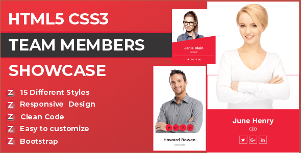 Zep - HTML5 CSS3 Team Members Template