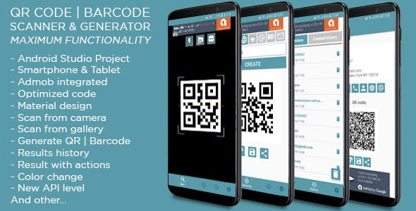 QR code & Barcode Scanner and Generator MAX + Admob ads