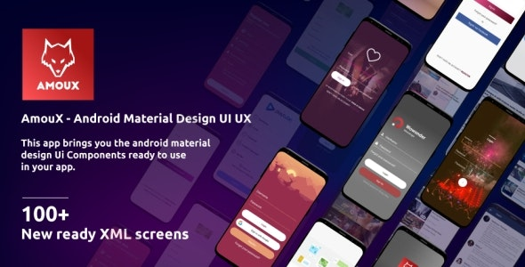 AmouX - Android Material UI Templates for Xamarin and Android Studio - CodeCanyon Item for Sale