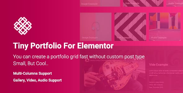Tiny Portfolio Widget For Elementor