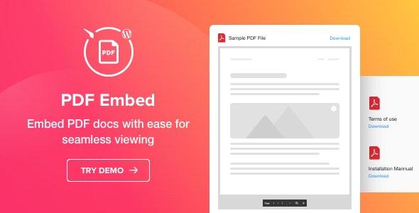 PDF Embed - WordPress PDF Viewer plugin - CodeCanyon Item for Sale