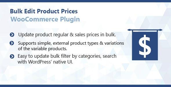 WooCommerce Bulk Edit Product Prices Plugin