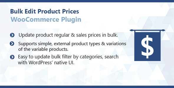 WooCommerce Bulk Edit Product Prices Plugin - CodeCanyon Item for Sale