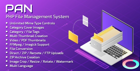 PAN Advanced PHP File Manager - CodeCanyon Item for Sale