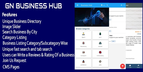 GN Business Hub - Ionic Mobile App - CodeCanyon Item for Sale