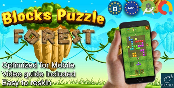 Puzzle Blocks Forest (Admob + GDPR + Android Studio) - CodeCanyon Item for Sale