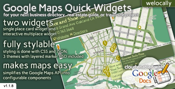 Map Widgets for jQuery - CodeCanyon Item for Sale