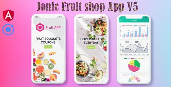 Ionic 5 Fruits UI Theme / Template / Firebase App(Android+Ios+Web)