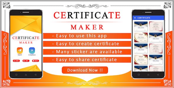 Certificate Maker App
