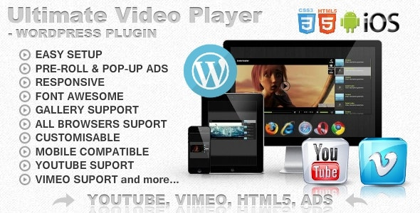 Ultimate Player with YouTube, Vimeo, Ads WP Plugin - CodeCanyon Item for Sale