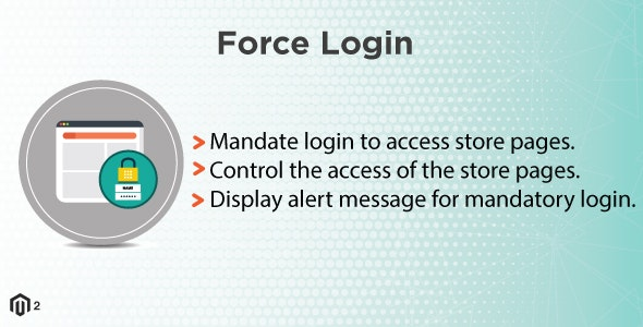 Magento 2 Force Login - CodeCanyon Item for Sale
