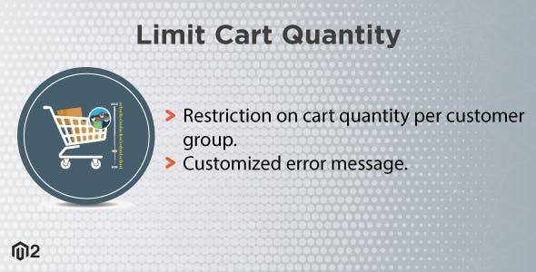 Magento 2 Limit Cart Quantity