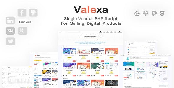 Valexa - PHP Script For Selling Digital Products