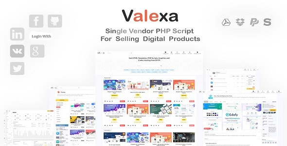 Valexa - PHP Script For Selling Digital Products - CodeCanyon Item for Sale