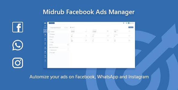 Midrub Facebook Ads Manager - Script for Instagram, Facebook and Whatsapp Ads Automatizations