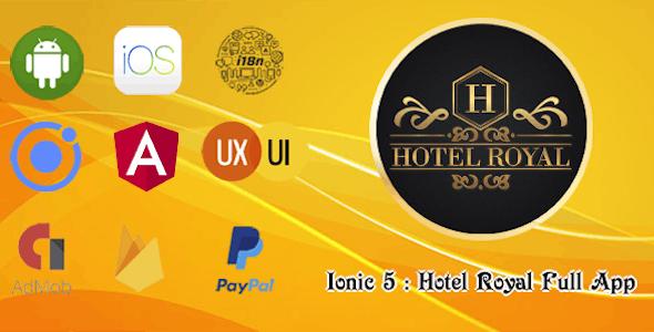 Ionic 5 : Hotel Royal Full App