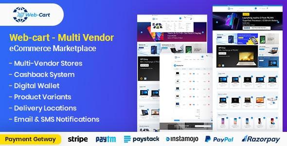 Web-cart - Multi Vendor eCommerce Marketplace - CodeCanyon Item for Sale