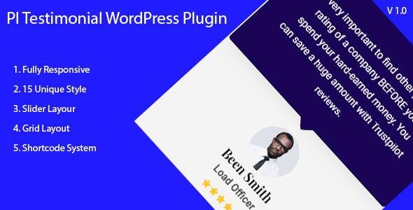 PI Testimonial - WordPress Testimonial Showcase Plugin