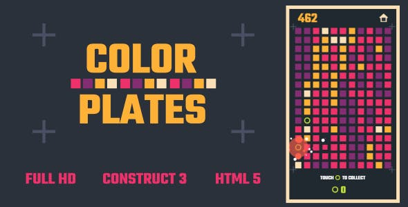 Color Plates - HTML5 Game (Construct3)