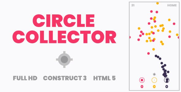 Circle Collector - HTML5 Game (Construct3)