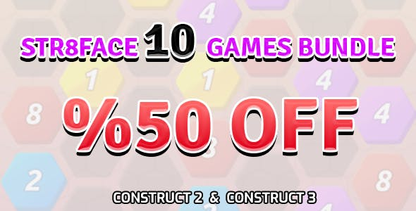 Bundle of 10 Games | HTML5 | Construct 2 | Construct 3 | Capx
