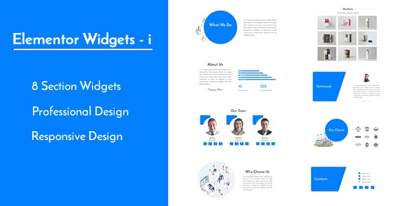 Elementor Widgets - i - Professional and Unique Section Design Widgets