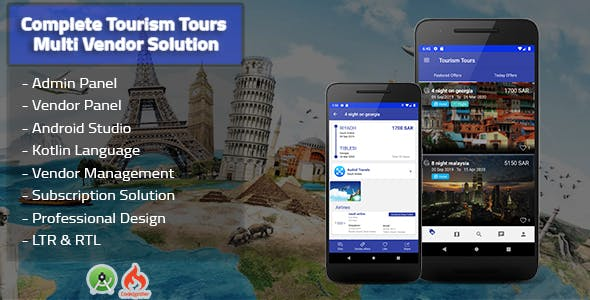 Tourism Tours Multi Vendor Android App