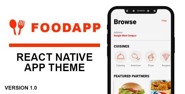 FoodApp React Native Theme