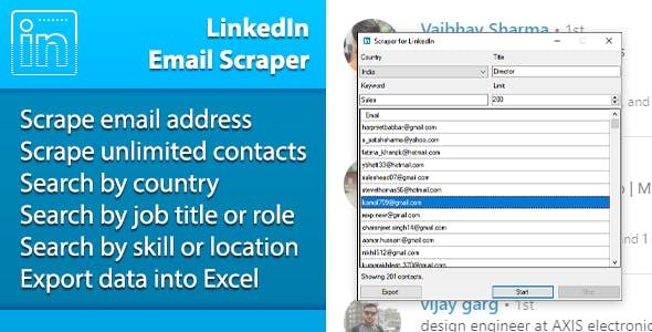 LinkedIn Email Scraper