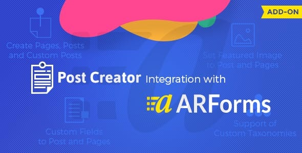 Post Creator for ARForms - CodeCanyon Item for Sale