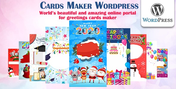 Cards Maker Wordpress - CodeCanyon Item for Sale