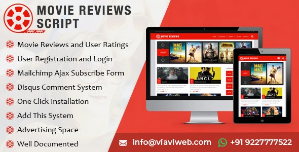 Movie Reviews Script - CodeCanyon Item for Sale
