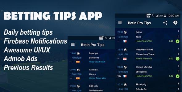 Betting Tips App - A Sleek Betting Tips Application