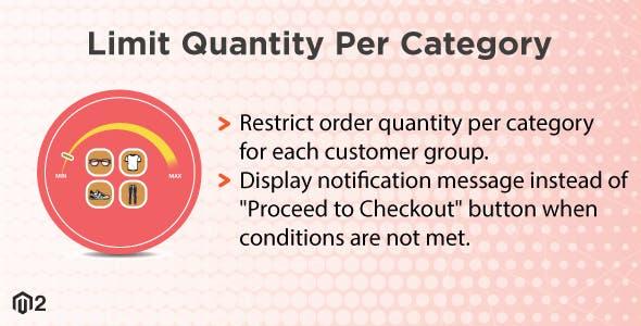 Magento 2 Limit Quantity Per Category