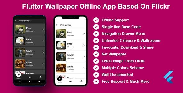 Flutter Wallpaper Offline App Bases on Flickr - CodeCanyon Item for Sale
