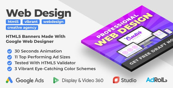 Web Design Services HTML5 Banner Ad Templates (GWD)