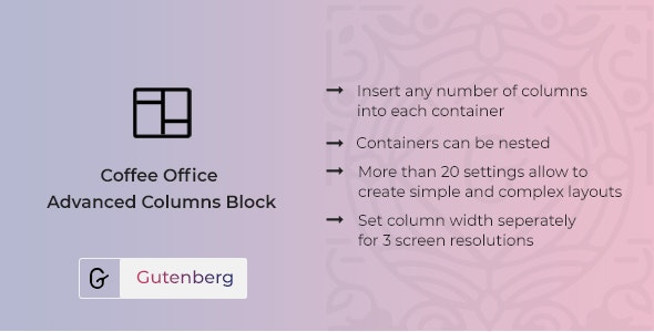 Coffee Office - Responsive Columns Block for Gutenberg - CodeCanyon Item for Sale