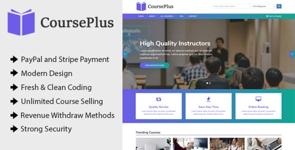 CoursePlus - Online Learning Management System (LMS)