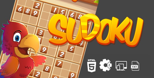 Sudoku Construct 2 HTML5 Game - CodeCanyon Item for Sale
