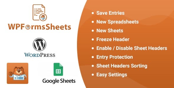 WPFormsSheets - WPForms Google Spreadsheet Addon