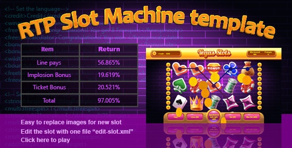 RTP Slot Machine Template - CodeCanyon Item for Sale