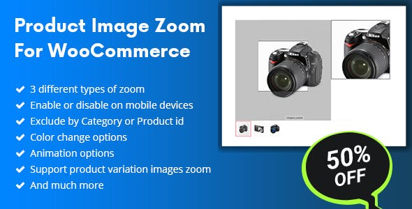Product Image Zoom Pro For WooCommerce