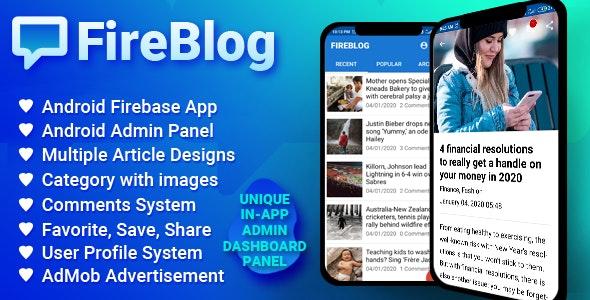 FireBlog - Android Firebase Blogging Application - CodeCanyon Item for Sale