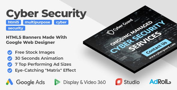 Cyber Guard - Security Services HTML5 Banners (GWD)