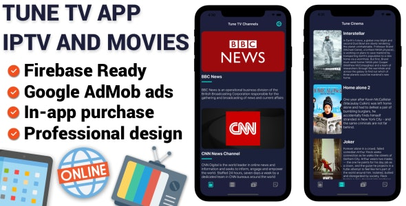 Tune TV - IPTV And Movies iOS Application - CodeCanyon Item for Sale