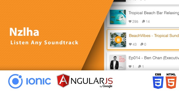 Nzlha App | Ionic App For SoundCloud API Search And Listen - CodeCanyon Item for Sale