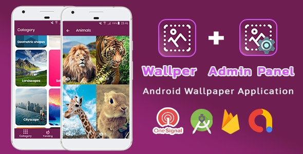 Wallper Wallpaper Android App Material Design With Admin