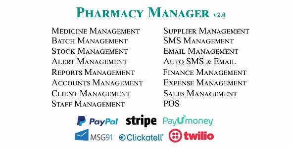 Pharmacy Manager - Ultimate Pharmacy / Medicine Store Management System - CodeCanyon Item for Sale